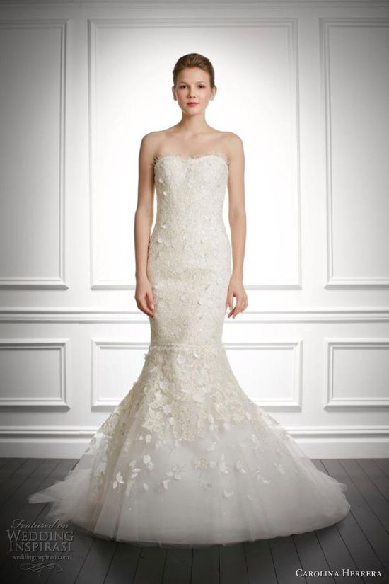 carolina herrera wedding dresses fall 2013 bridal jemma strapless mermaid