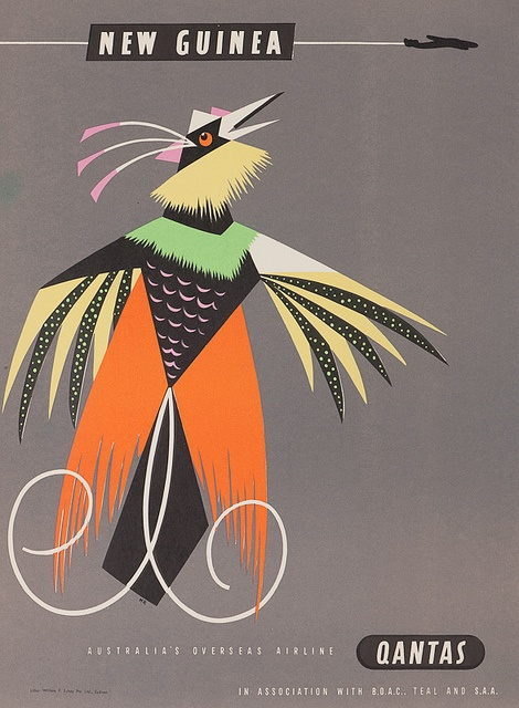 Qantas Poster - New Guinea
