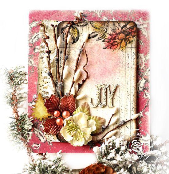 Christmas Card with Prima - Scrapbook.com