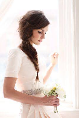 Pretty hair..pretty dress.