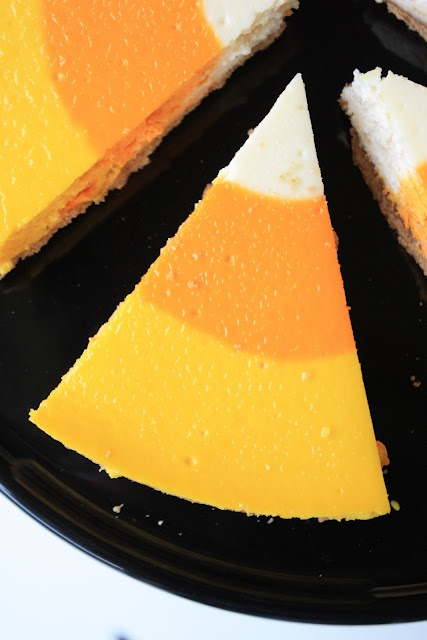 Candy Corn Cheesecake