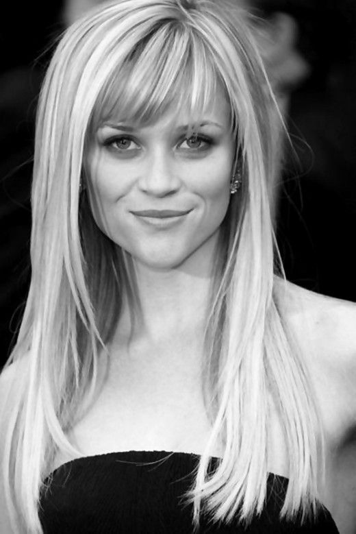 2013 Hairstyles for Women with Long Hair - Reese Witherspoon sports long hair with layers framing the face and bangs just above the eyebrows.  This is what I have now and I love it