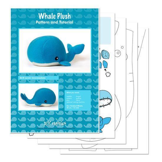 whale plushie pattern