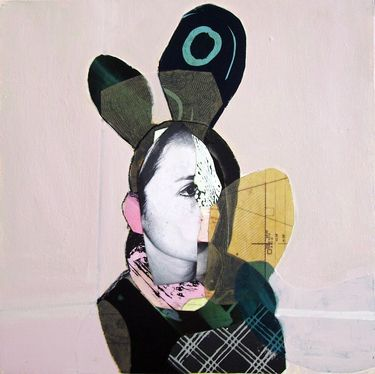 "Saatchi Online Artist pascal marlin; Collage, ""femme"" #art"