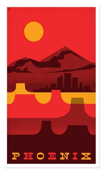 Phoenix Travel Poster