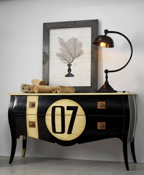 painted buffet     #furniture #7 #07 #buffet #numbers