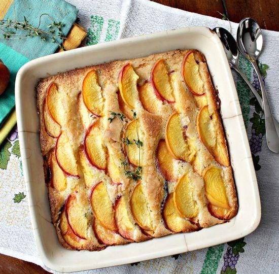 Peach Thyme Cake