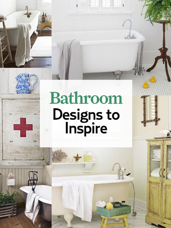 Our favorite #bathroom ideas will make your home's smallest room feel larger than life: www.countryliving...