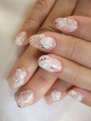 Bridal Nail Art Ideas.