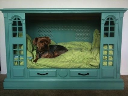 Cute dog bed out of old furniture