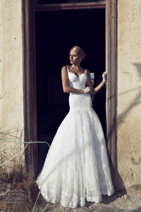 riki dalal wedding dresses 2013 bridal gown straps drop waist