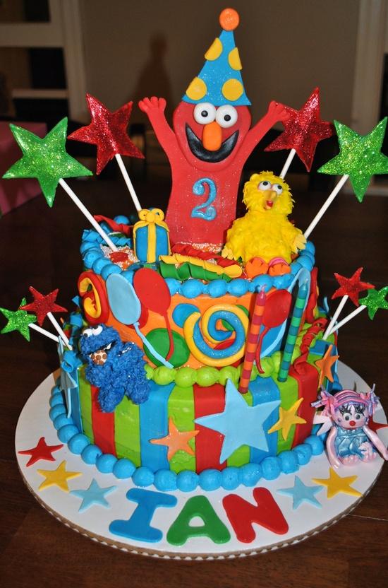 Birthday cake with S
