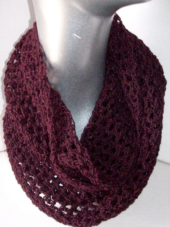 Infinity Scarf Cowl Light Weight Sparkling by CalcedoniaDesign, $24.00