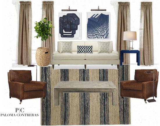 Masculine Living Room via La Dolce Vita