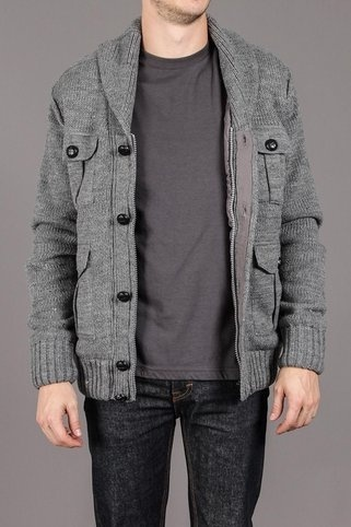Gray Sweater Jacket.