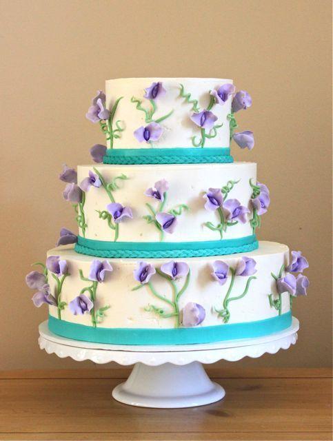 Sweet Pea Wedding Cake.