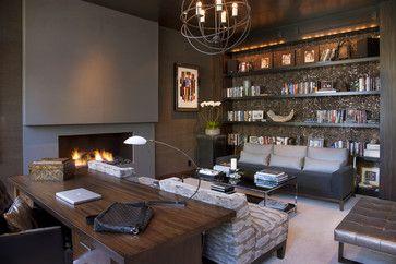Hollywood Glamour Meets Modern - modern - home office - san diego - Lori Gentile Interior Design