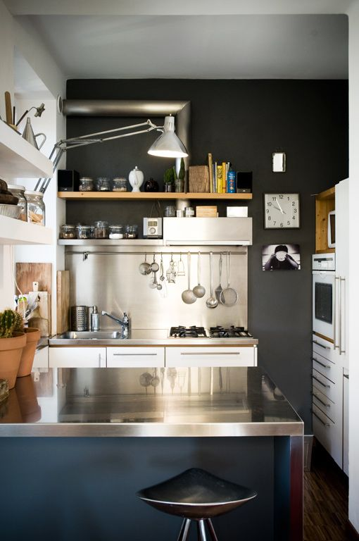 Compact but modern kitchen interior