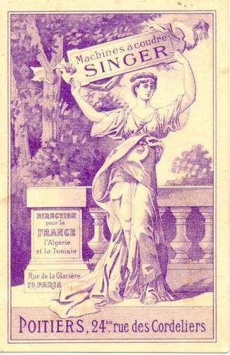 Publicité pour les machines à coudre Singer
