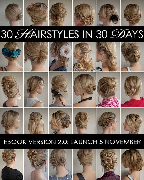 30 Days of Twist and Pin Hairstyles - New ebook update