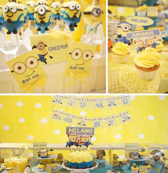 Despicable Me Party with AWESOME IDEAS via Kara's Party Ideas