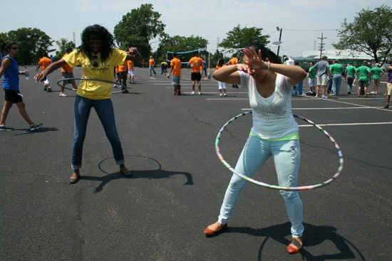 Hula Hoop Competition! #VitaminShoppe company picnic.