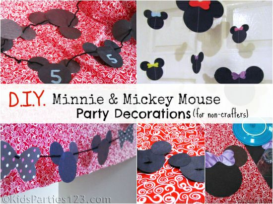 3 DIY Mickey and Minnie Mouse Party Decorations for non-crafters - KidsParties123