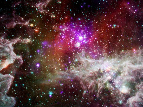 The 'Pacman Nebula' (NASA, Chandra, Spitzer, 09/28/11) by NASA's Marshall Space Flight Center, via Flickr