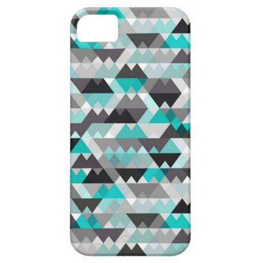 Love the bold grey & turquoise design on this iPhone cover!