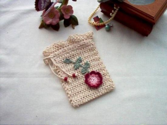 Victorian Rosette Gift Bag Sachet Crochet Lace by crochetbymsa, $9.99
