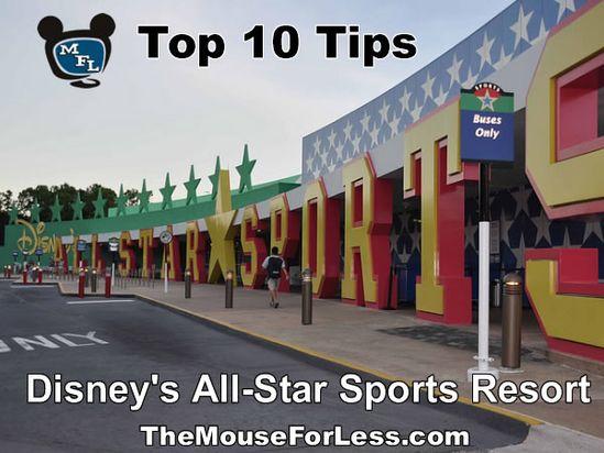 Disney's All-Star Sports Resort Tips