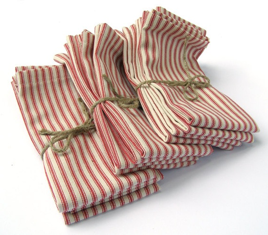 Ticking Cloth Napkins / UnOriginalAmericain