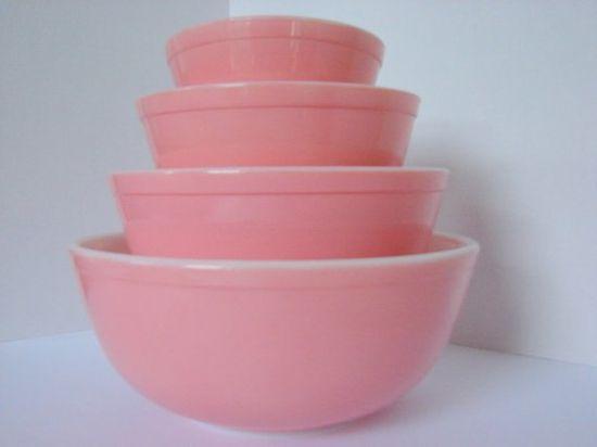 More Pink Vintage Pyrex