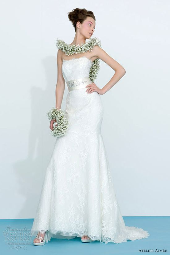 atelier aimee wedding dresses 2013 strapless lace gown