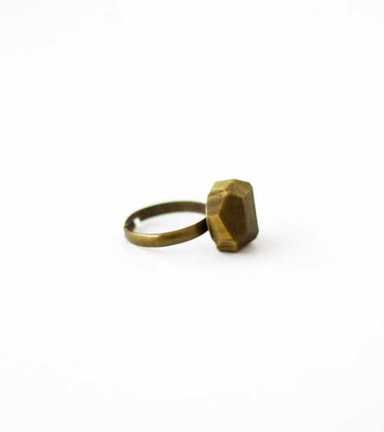 gold geo ring by AMM Jewelry