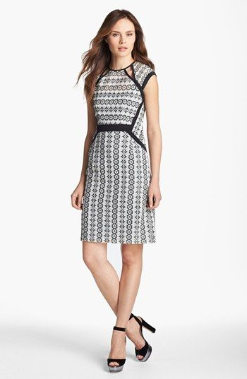 Nanette Lepore 'Castille' Embroidered Sheath Dress available at #Nordstrom