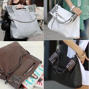 New Fashion Korean Style Lady Women Hobo PU leather Handbag Shoulder Bag Purse