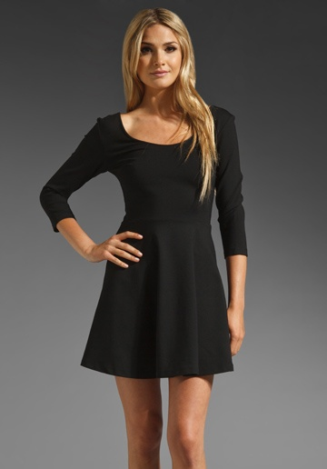 PAPER CROWN BY LAUREN CONRAD Tudor Dress in Black at Revolve Clothing {another favorite
