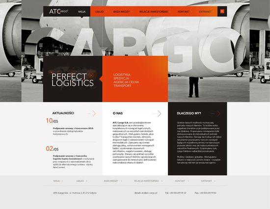 web, bold colors, photos, grid