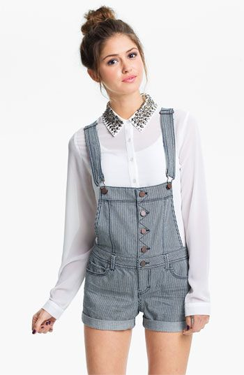 Overall Remix: Fire Railroad Stripe Overall Shorts #Nordstrom