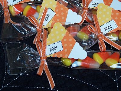 Candy corn tag - could do with layered paint chips