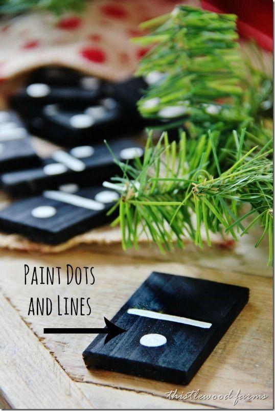 Handmade Gift Idea:  Paint Stick Dominoes