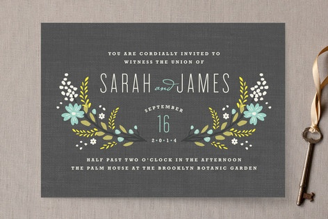Botanical Blooms Wedding Invitations by Kristie Kern at minted.com