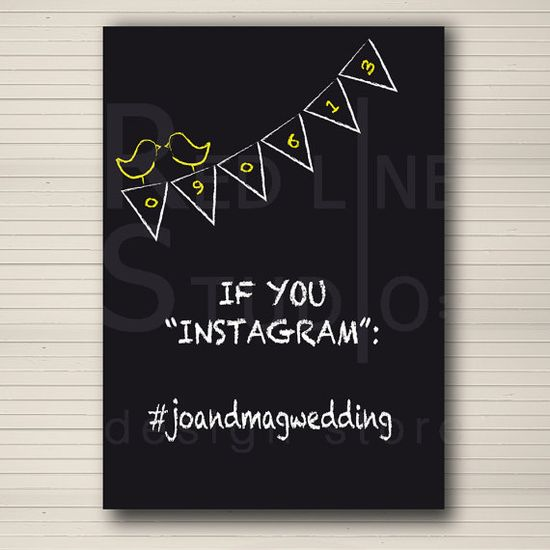 Have guests Instagram pictures they take at your wedding!