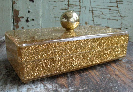 #Vintage Lucite Jewelry Box on @Etsy!