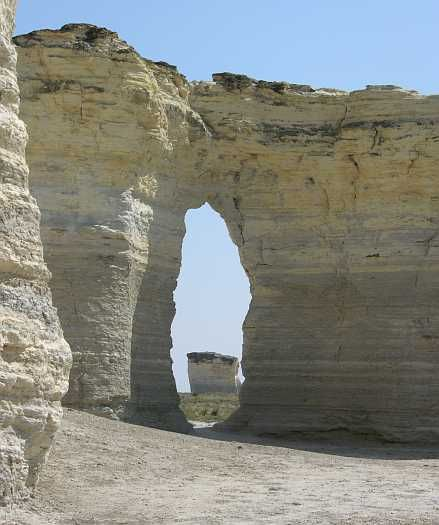 Monument Rocks in western Kansas