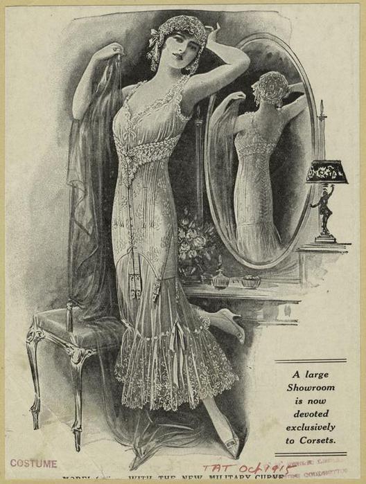 Vintage fashion illustration.