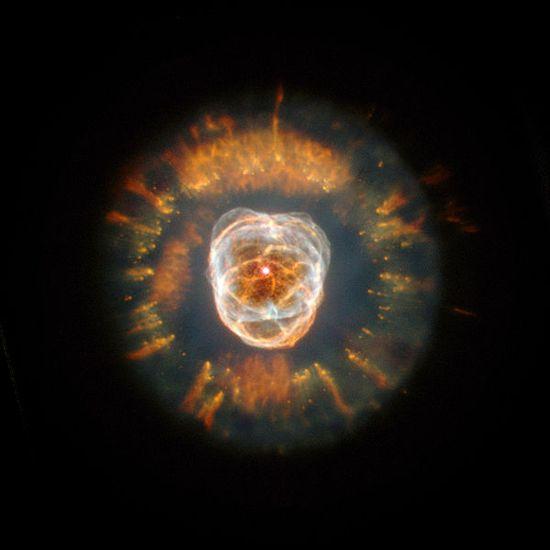 The Eskimo Nebula, about 5,000 light years away