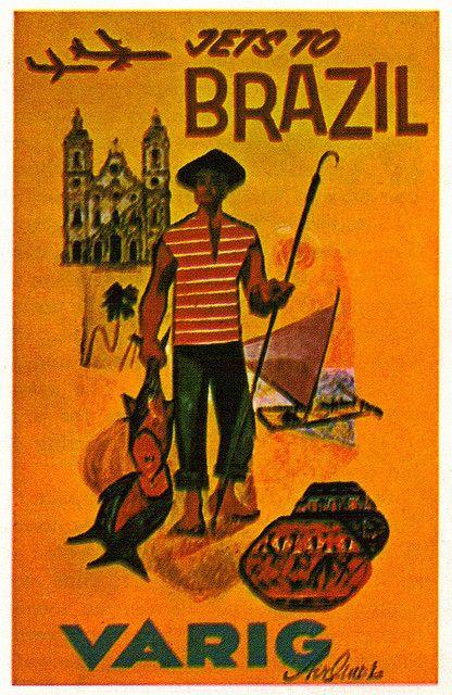 Brazil Varig Poster