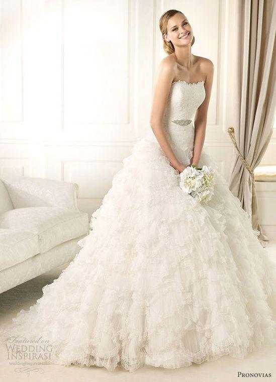pronovias 2013 wedding dresses donostia ruffles